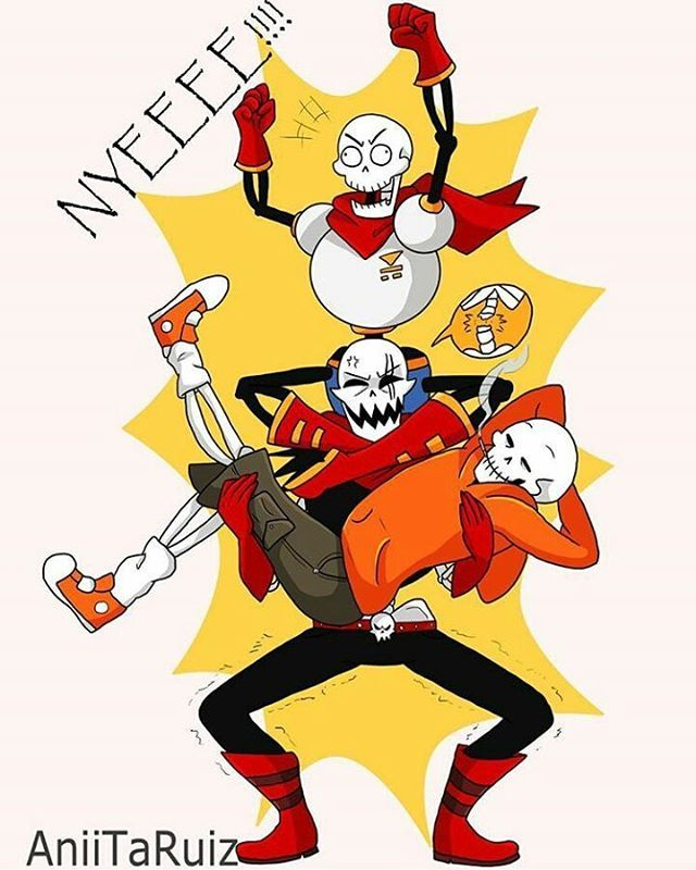 Poor UF Papyrus... But Damn! Look At US Papyrus Pose! XD