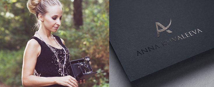 """""""Anna Khvaleeva"""" - логотип для профессионального фотографа из Черногории. Дизайнер - Ольга Шу. #логотип #лигатура #буква #фотограф #фотография #photo #ligature #photography #photographer #letter #logo #лого #дизайн #design #logodesign #logotype #tailroom #inspiration"""