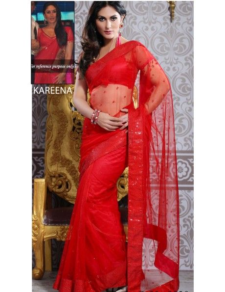 Hot Kareena Red In Net Item code : SVA9028