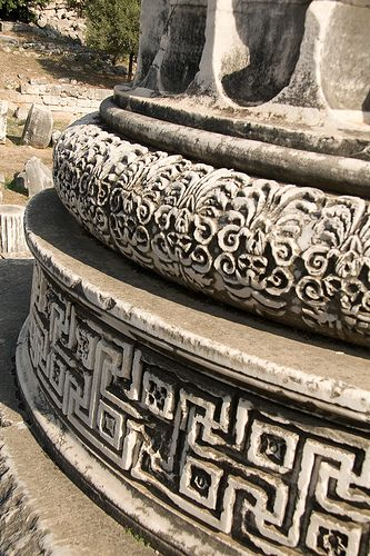 Detail of Column Base at the Temple of #Apollo, #Didyma, #Turkey