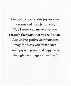 Special verse for a Wedding card.