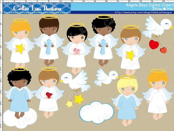 Angels Boys Clipart for Personal and Commercial by CeliaLauDesigns, $5.00