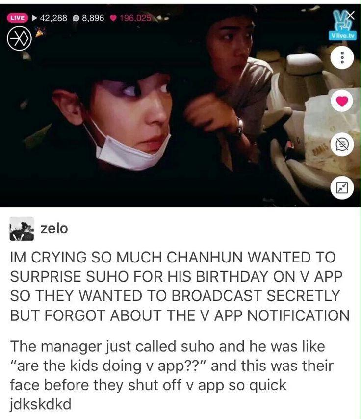 Awww!! | Park Chanyeol | Oh Sehun | Suho/Kim Junmyeon | V App | EXO 엑소