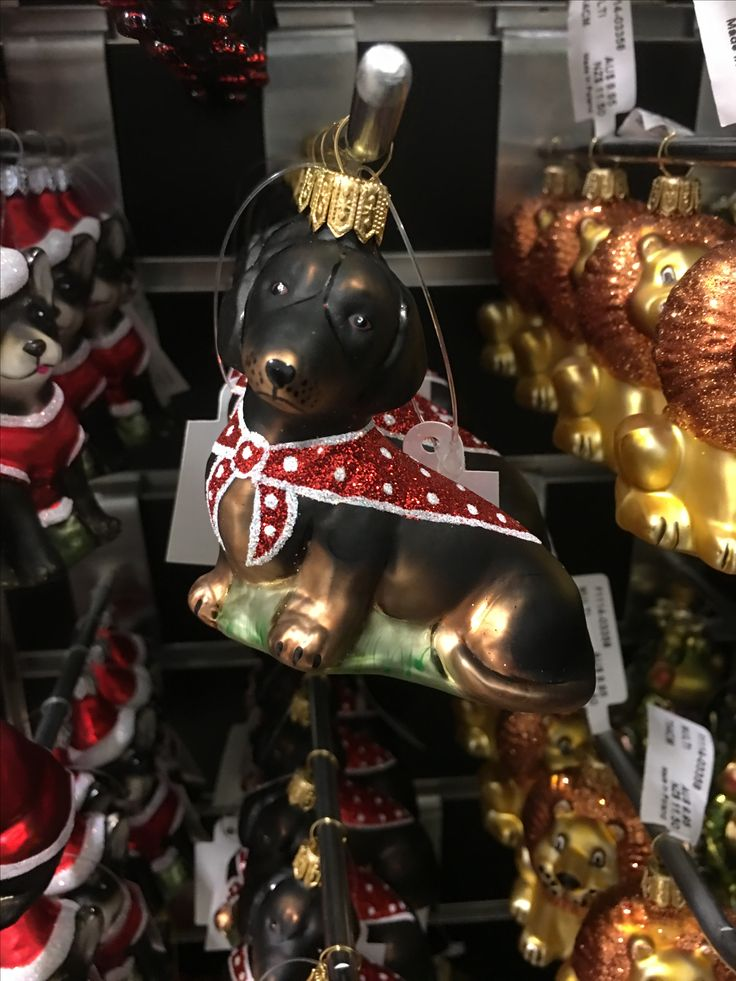 Cute dog Christmas ornament.