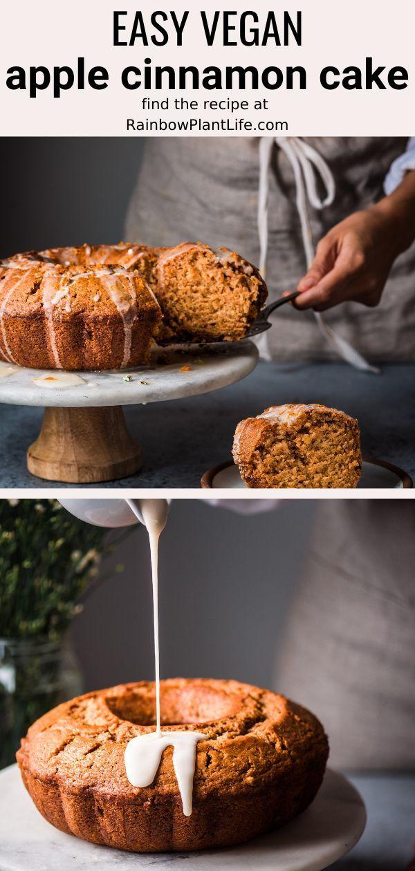 Vegan Apple Cinnamon Bundt Cake Rainbow Plant Life In 2020 Vegan Apple Dessert Apple Recipes Easy Vegan Applesauce Cake Recipe