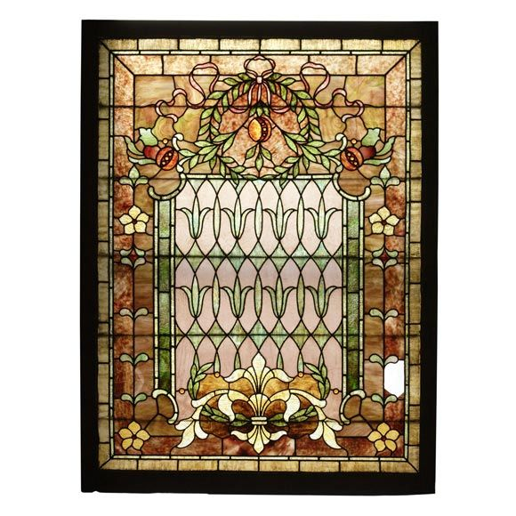 VICTORIAN STAINED GLASS WINDOW   From a unique collection of antique and modern windows at http://www.1stdibs.com/furniture/building-garden/windows/