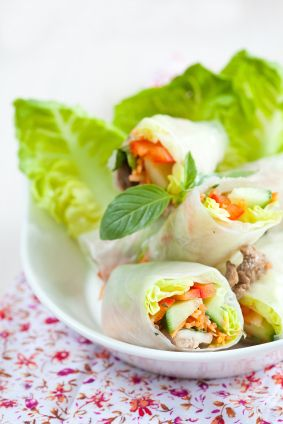 Light And Tasty Rice Paper Rolls