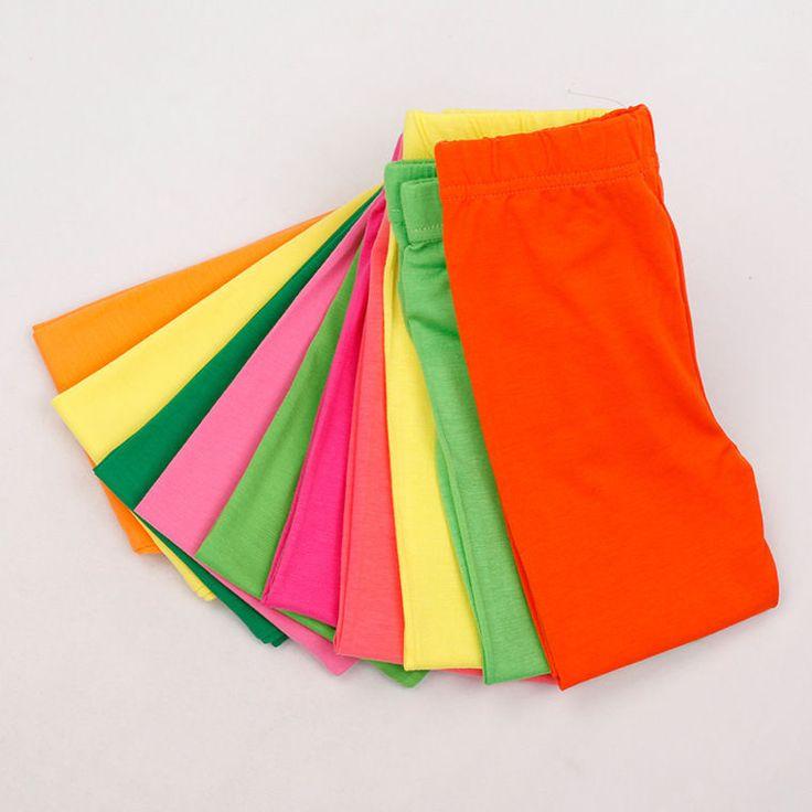 2-6T New Kid Girl Candy Color Full Ankle Length Pants Children Dance Leggings    eBay