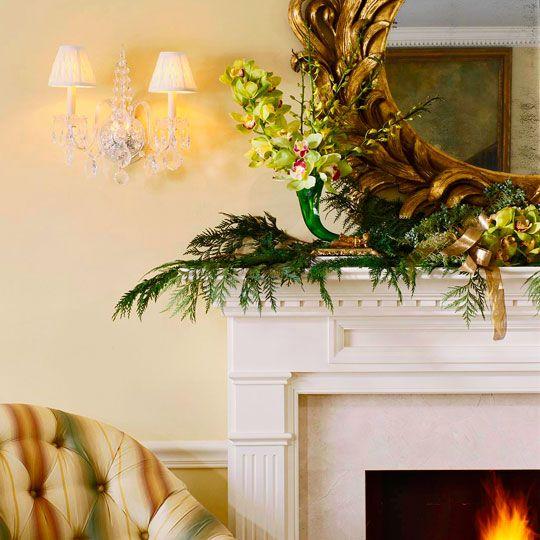 Elegant Mantel Decor Traditional Home Holiday