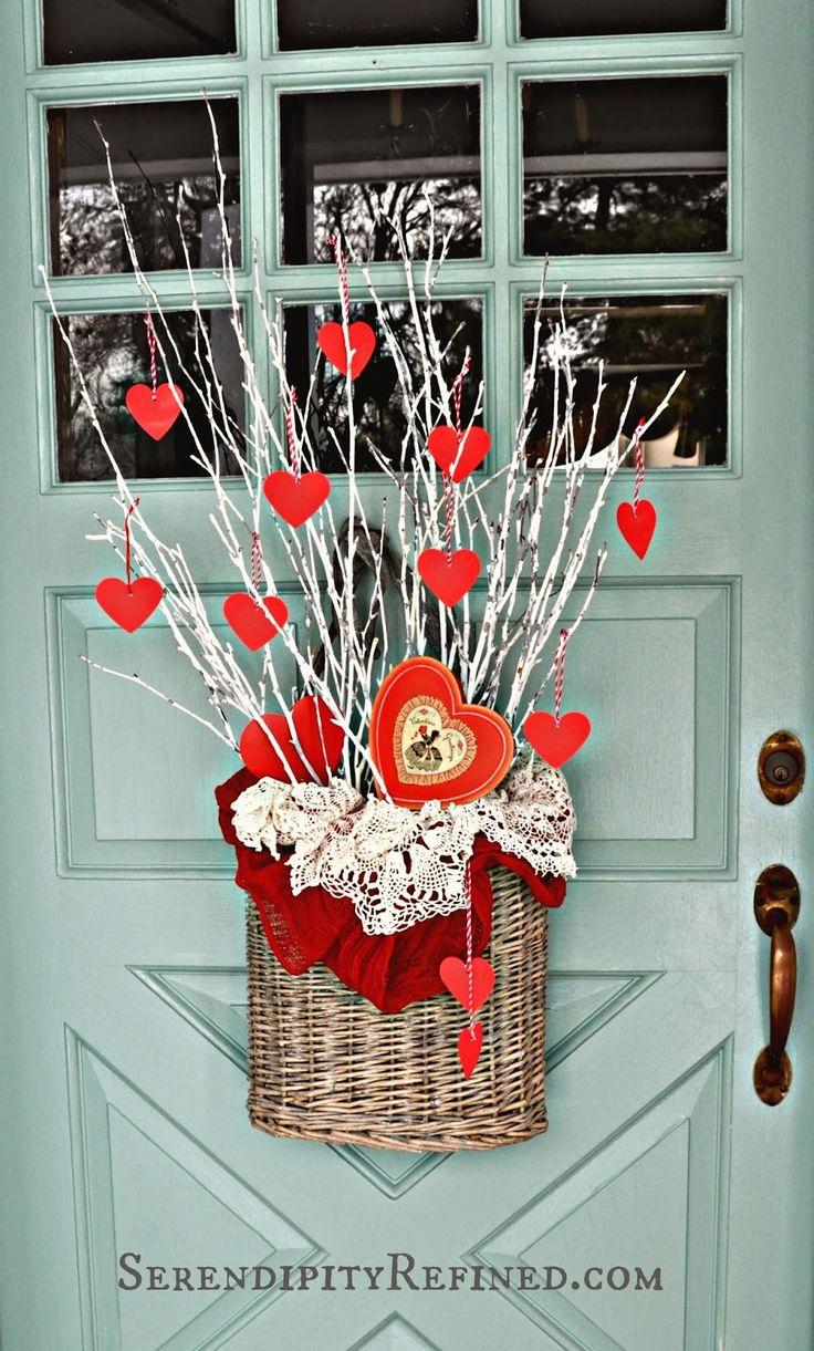 Serendipity Refined Blog Simple Diy Valentines Day Door Decor Valentine 39 S Day Crafts