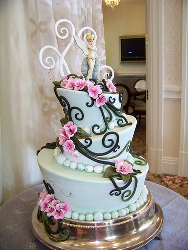 1000 Ideas About Tinker Bell Cake On Pinterest