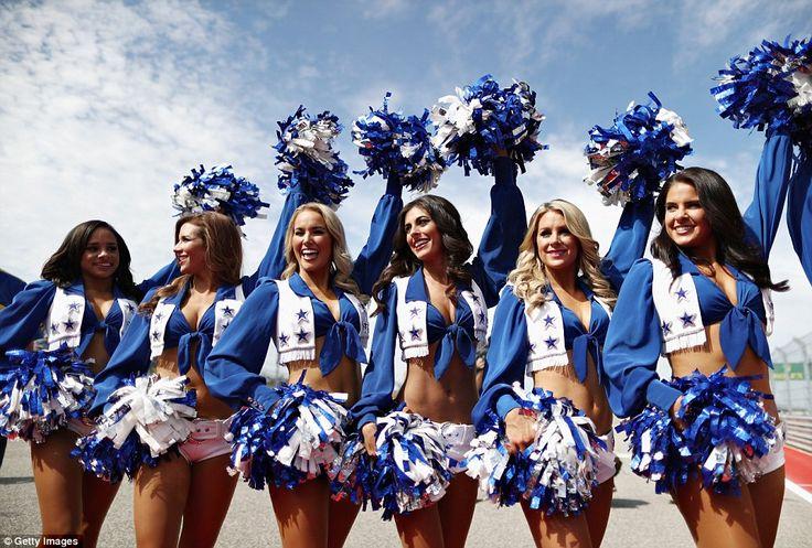 The Dallas Cowboys cheerleaders strut their stuff ahead of the US Grand Prix in Austin, Texas