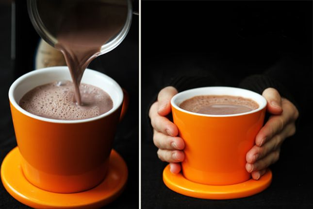 Upgrade your mug of hot chocolate with some red wine.