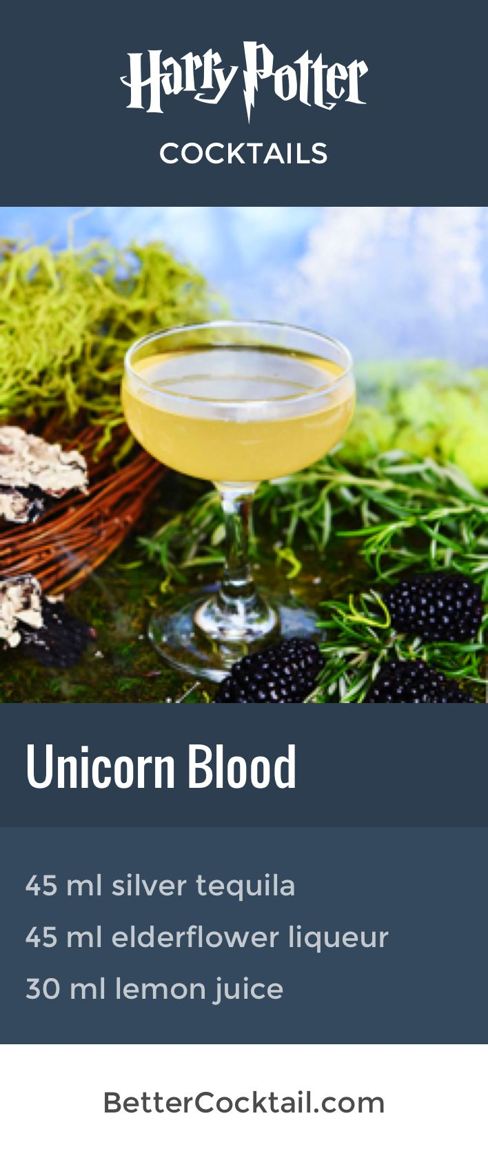 """Our themed Harry Potter cocktail """"Unicorn Blood"""" is easy to make with just three ingredients and is perfect for Halloween."""