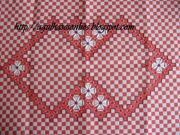 pretty Chicken scratch embroidery