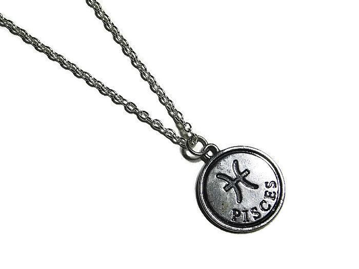 Sterling Silver Pisces Necklace Zodiac Pendant February Astrology Symbol Jewelry: Sterling Silver Pisces Necklace… #Jewellery #UKJewellery