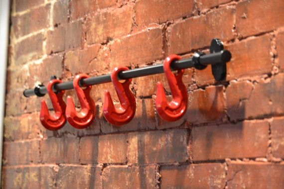 Wall Hook - Industrial Wall Hook - Industrial Holder - Towel Holder - Coat Rack - Hat Rack - Industrial Furniture - Home Decor - Wall Decor