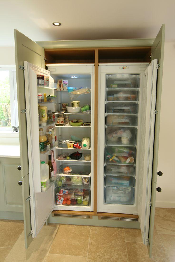 tall integrated fridge freezer kitchen in 2019. Black Bedroom Furniture Sets. Home Design Ideas