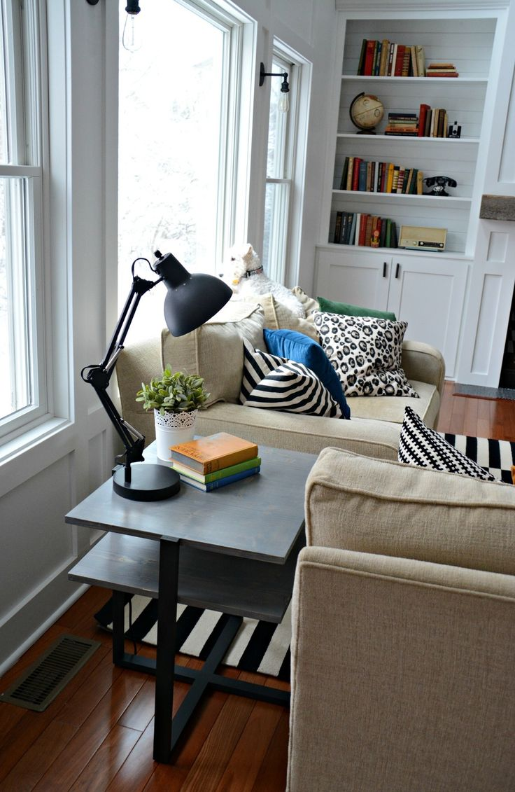 Think I'm going to build this end table...different finish though. DIY Living Room End Table Tutorial — Decor and the Dog