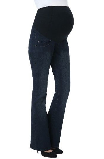 Free shipping and returns on Kimi and Kai Leni Maternity Bootcut Jeans at Nordstrom.com. Contrast stitching pops on bootcut jeans cut slim from supersoft, stretchy denim that comfortably adjusts to your changing figure. The over-the-belly waistband features contoured panels to gently support your baby bump.