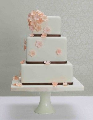 43 Best Cakes Orange Peach Wedding Images On Pinterest