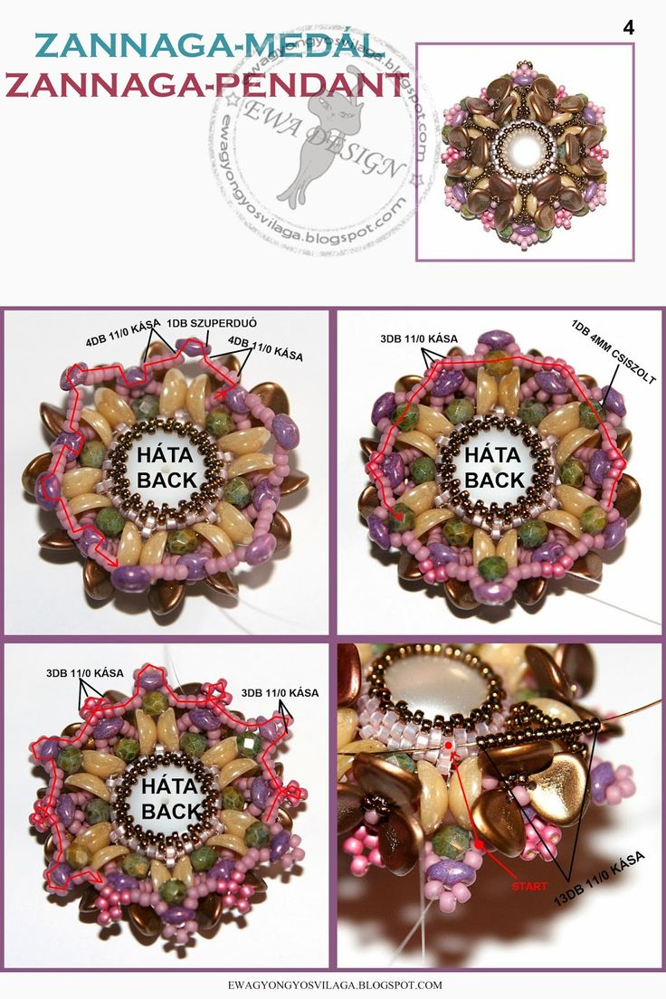 Blog: Zannaga medal minta zannaga pendant pattern :: ewagyongyosvilaga.blogspot.com