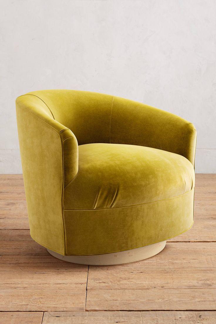 Arm morris catlin bow comfortable bow chair arm arm chairs bow arm - Slide View 1 Velvet Amoret Swivel Chair