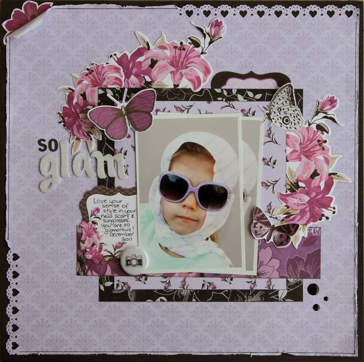 All About Scrapbooks - Kaisercraft Violet Crush - by Fiona Johnstone