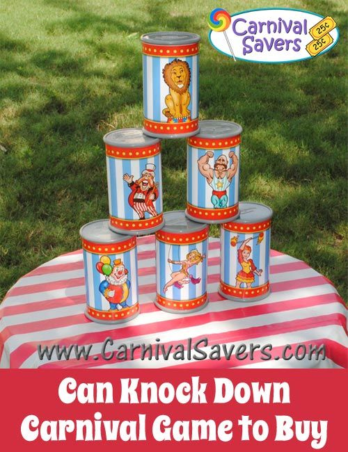 Can Knock Down Set - Carnival Game to Buy