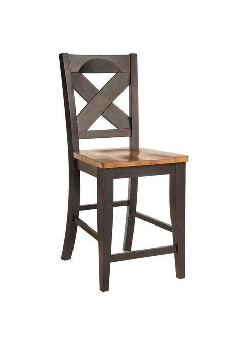 Black & Pecan Finish | Pedestal pub table, Solid wood ...
