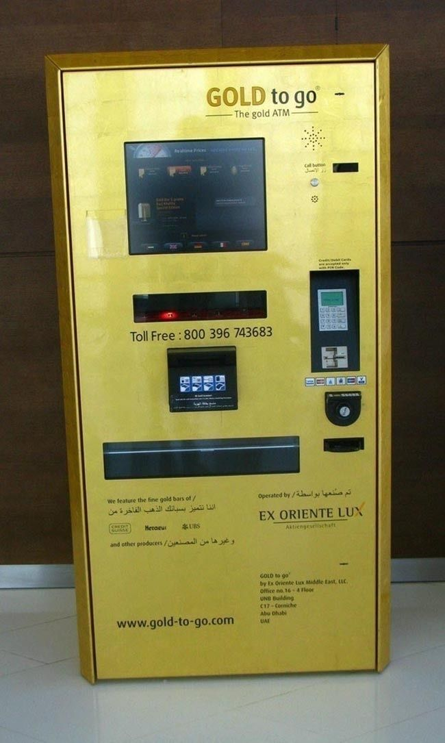 A gold ATM machine that distributes gold.