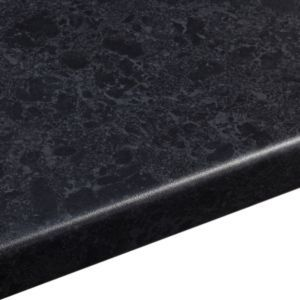 38mm Midnight Granite Black Satin Stone Effect Round Edge Worktop (L)3600mm (D)600mm: 38mm Midnight Granite Black Satin Stone Effect… #diy