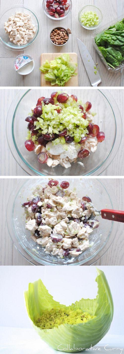 Greek Yogurt Chicken Salad Cabbage Cups