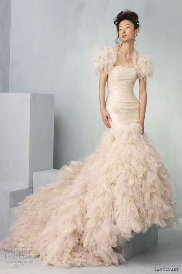 17 Best images about Wedding Dresses: Peach on Pinterest | Wedding ...
