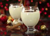 The White Christmas adds chocolate and Southern Comfort to eggnog.