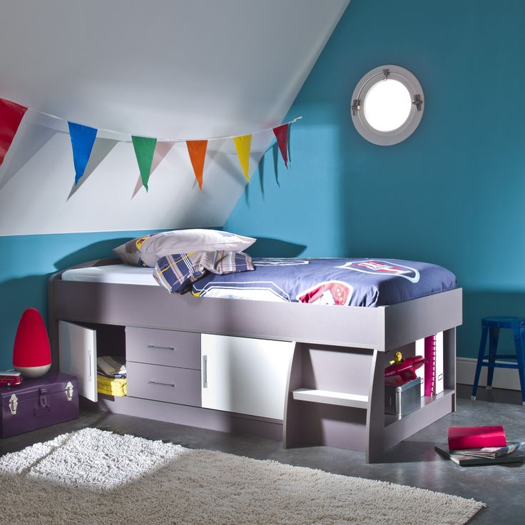 1000 id es sur le th me lit enfant sureleve sur pinterest for Chambre gain de place