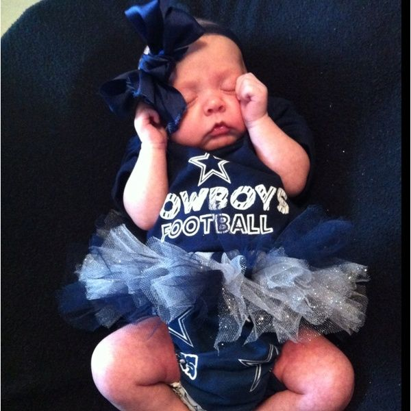 Dallas cowboys baby! If/when we have a girl, this will happen! Also, for my favorite team too. :)