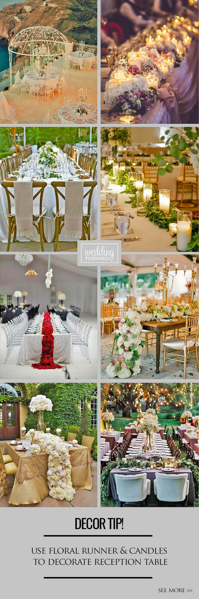 24 Ways To Transform Your Reception Space ❤ When you have chosen haircut, makeup, dress it's time to think about reception. See more: http://www.weddingforward.com/wedding-reception-space/ #weddings #decorations