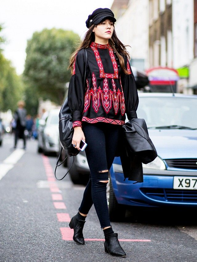 Tip of the Day: Bohemian Blouse for Fall via @WhoWhatWear