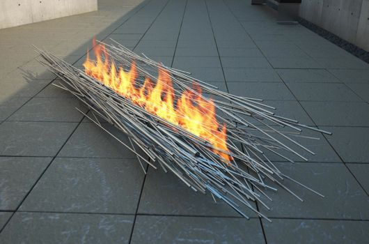 anna columbo fire sculpture