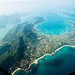 Aerial view of northern Amami Oshima Island, Kagoshima, Japan by Ippei & Janine Naoi
