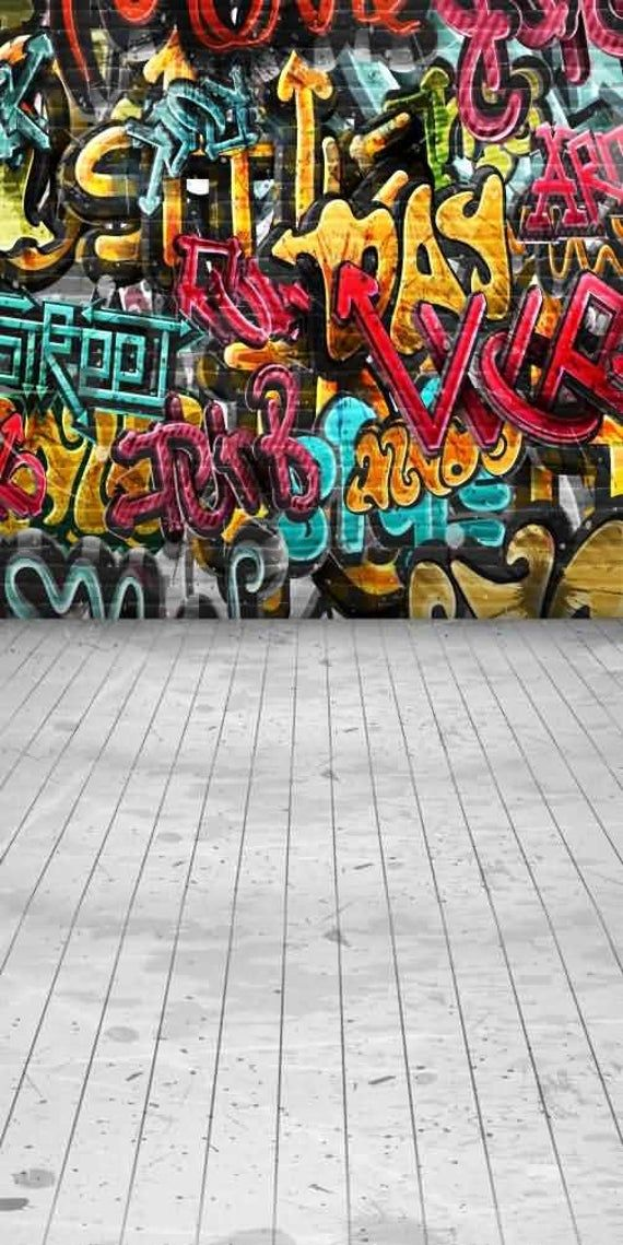 Graffiti Wall Backdrop Computer Printed Photography Background Etsy Graffiti Wall Graffiti Wallpaper Iphone Background For Photography