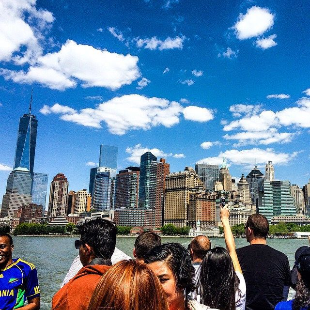 And I still can't move on. #throwback #memories #TGIF #clouds #sky #building #manhattan #newyork #city #NY #USA