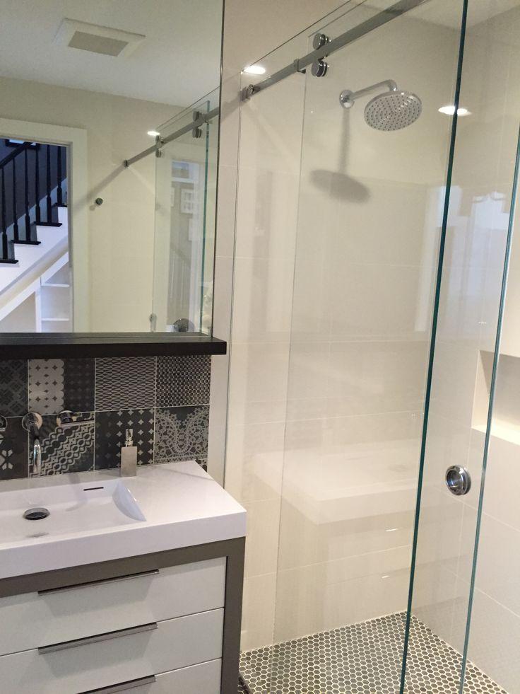 Serenity Sliding Glass Shower Door - Interior Design by Koo de Kir Architectural Interiors