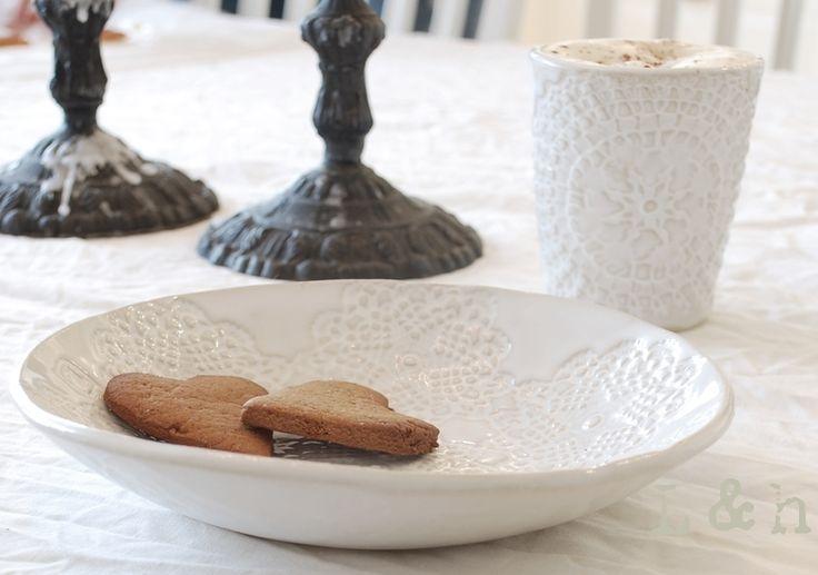 Inga ceramic plate & Ethnic ceramic mug handmade by PetraLundsLera www.petralundslera.se