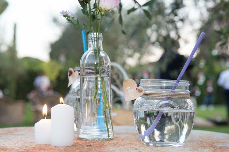 tavolino per l'aperitivo nuziale