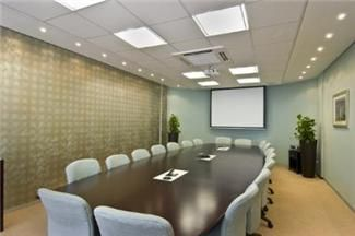 JUMBO Plasterboards used to create drywall partitions in this office boardroom