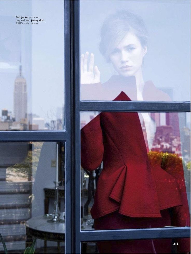 Hitchcock Presents... |  Zita d'Hauteville by Pamela Hanson for Glamour UK, September 2012