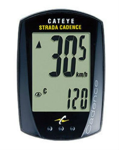 Your legs are the engine and the Strada Cadence is your tachometer. This sleek CatEye cycle computer delivers all of the essential functions of the Strada plus pedal cadence.