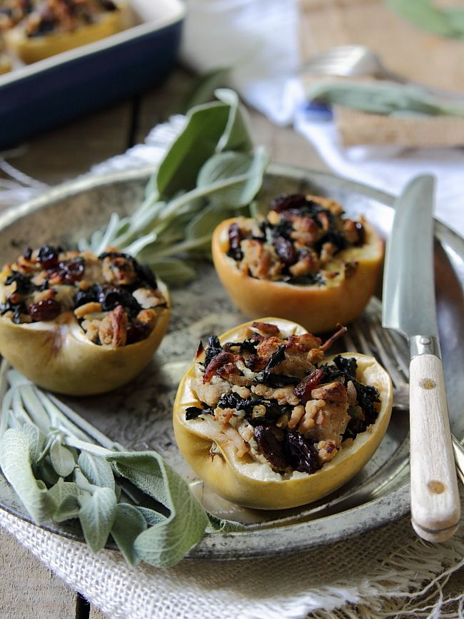 Turkey and Sage Stuffed Apples.